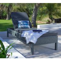 GARTENLIEGE 198/33/67 cm - Grau, Design, Kunststoff/Textil (198/33/67cm) - Ambia Garden
