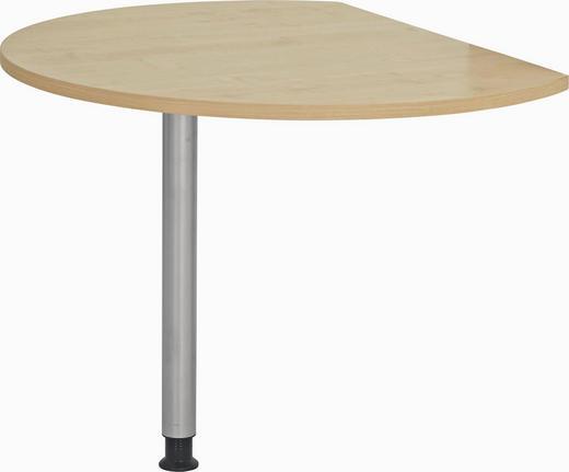 SCHREIBTISCHPLATTE - Ahornfarben, KONVENTIONELL, Holzwerkstoff/Metall (80/100cm)