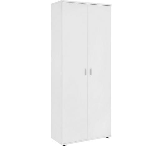 SCHUHSCHRANK 69/176/34 cm - Silberfarben/Weiß, Design, Holzwerkstoff/Kunststoff (69/176/34cm)