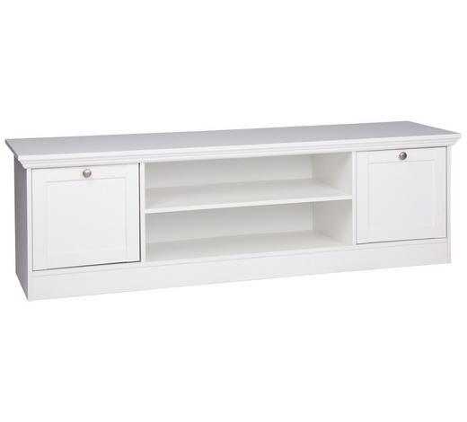LOWBOARD 160/48/45 cm - Silberfarben/Weiß, ROMANTIK / LANDHAUS, Holzwerkstoff/Metall (160/48/45cm) - Carryhome
