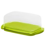 BUTTERDOSE Kunststoff - Transparent/Grün, Basics, Kunststoff (18/9,5/5cm) - Rotho