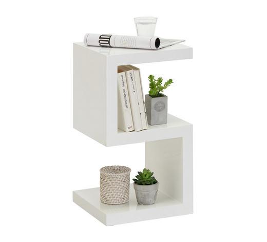 BEISTELLTISCH quadratisch Weiß  - Weiß, Design (32/59/32cm) - Xora