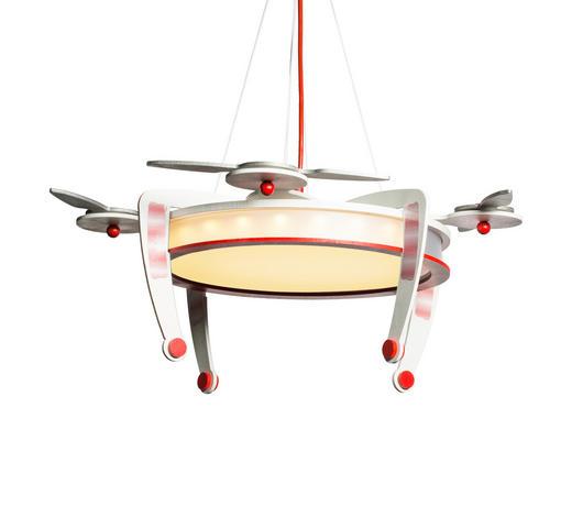 KINDERHÄNGELEUCHTE - Rot/Silberfarben, Design, Holz (50/50/23cm)