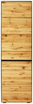 GARDEROBENSCHRANK - Eichefarben/Schwarz, Natur, Holz/Holzwerkstoff (60/200/38cm) - Linea Natura