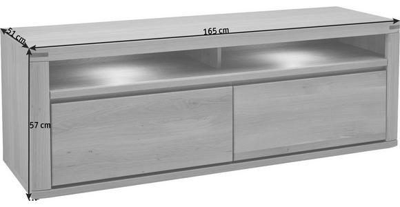 TV-ELEMENT 165/57/51 cm - Eichefarben, KONVENTIONELL, Holz/Holzwerkstoff (165/57/51cm) - Voleo