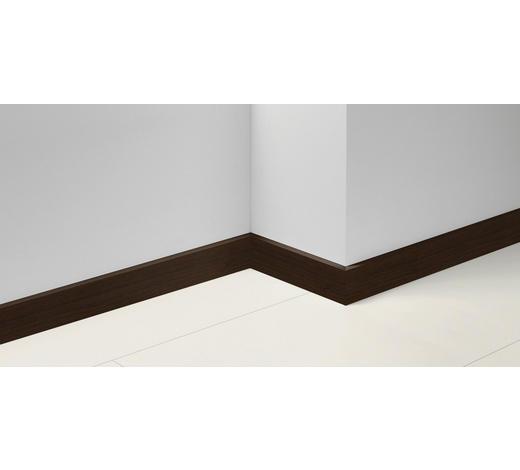 SOCKELLEISTE Dunkelbraun, Walnussfarben - Dunkelbraun/Walnussfarben, Basics, Holzwerkstoff (257/1,65/7cm) - Parador