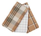 GESCHIRRTUCH 3-teilig Braun  - Braun, KONVENTIONELL, Textil (50/70cm) - Esposa