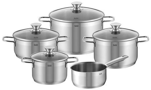SET 5/1 POSODA PISA - srebrna, Konvencionalno, kovina/steklo - Silit