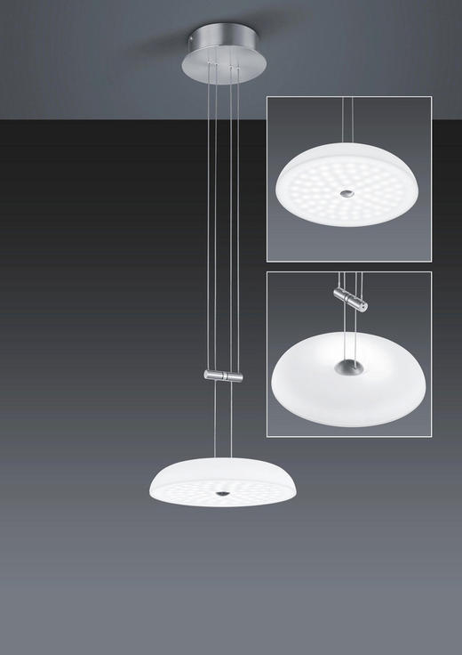 LED-HÄNGELEUCHTE - Design, Glas/Metall (25/150cm) - Bankamp