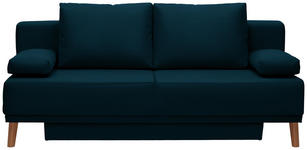 SCHLAFSOFA in Textil Petrol  - Petrol/Naturfarben, Design, Holz/Textil (192/92/90cm) - Novel