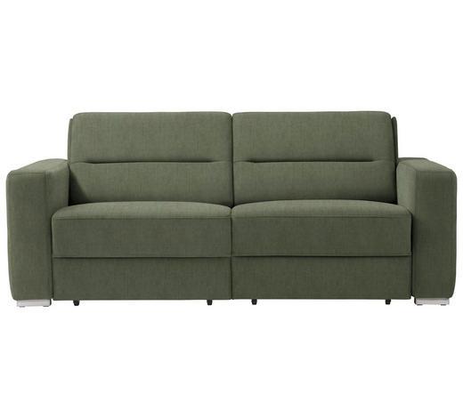 SCHLAFSOFA in Textil Olivgrün  - Olivgrün, KONVENTIONELL, Textil/Metall (202/86/92cm) - Sedda