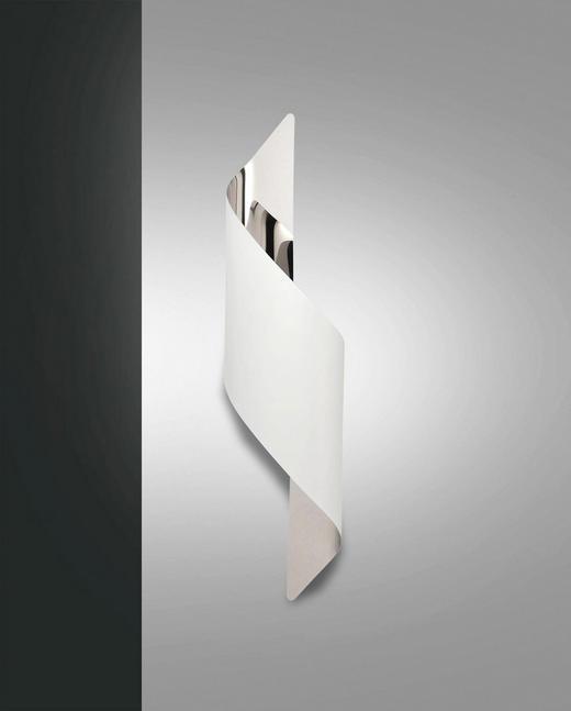 LED-WANDLEUCHTE - Chromfarben/Weiß, Design, Metall (50/13/8cm)