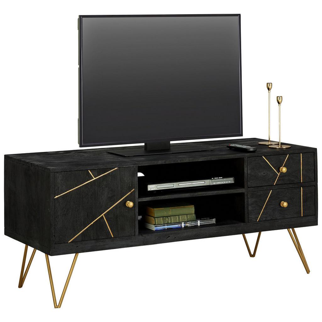 Fernsehschrank mit eleganter Farbkombi