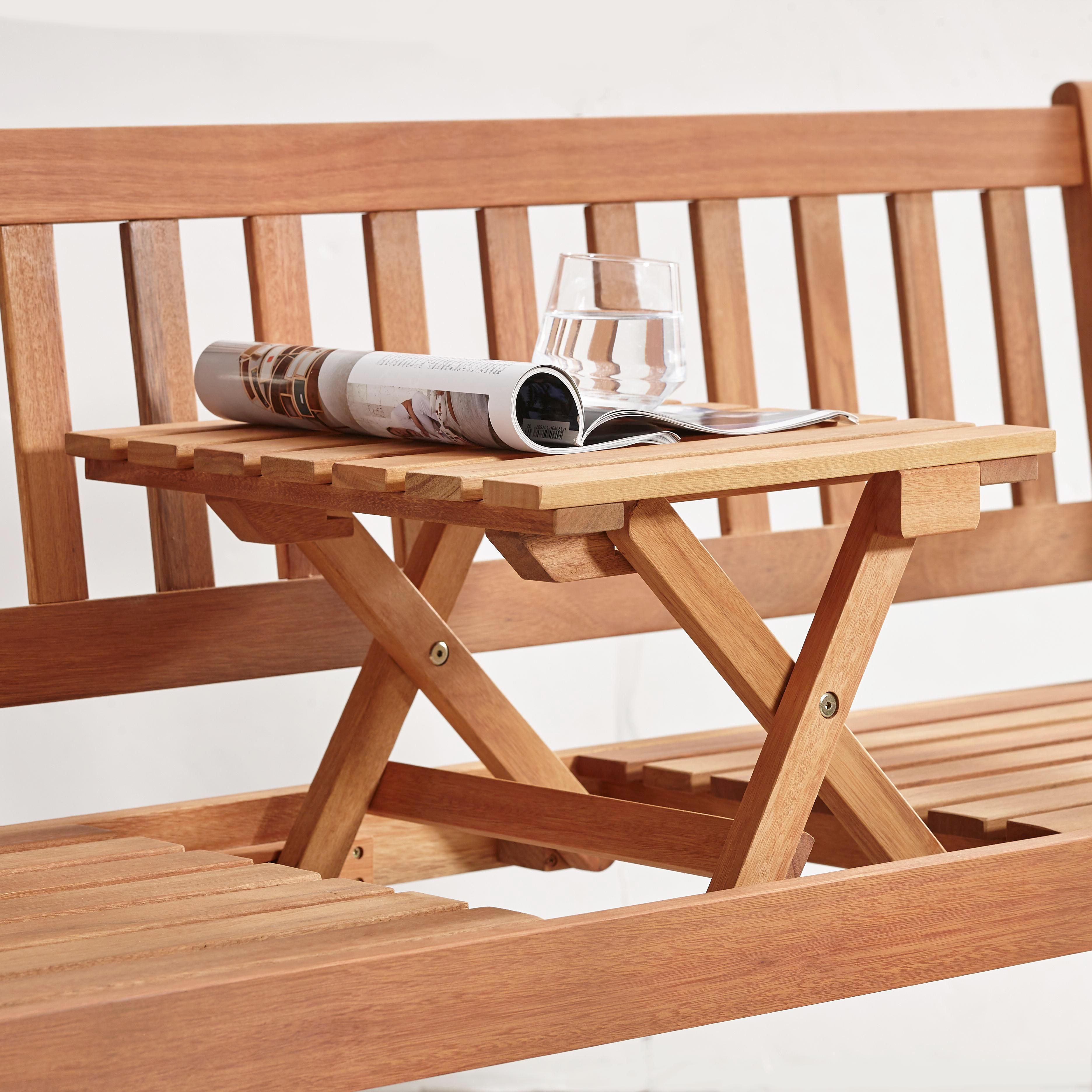 GARTENBANK Eukalyptusholz - Naturfarben, Design, Holz (159/88/60cm) - AMBIA GARDEN