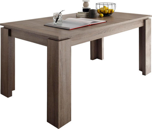 ESSTISCH rechteckig Eichefarben - Eichefarben, Basics, Holzwerkstoff (160(200)/90/77cm) - Carryhome