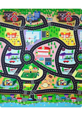 SPIELTEPPICH   Multicolor - Multicolor, Basics, Kunststoff (120/100/0,3cm)
