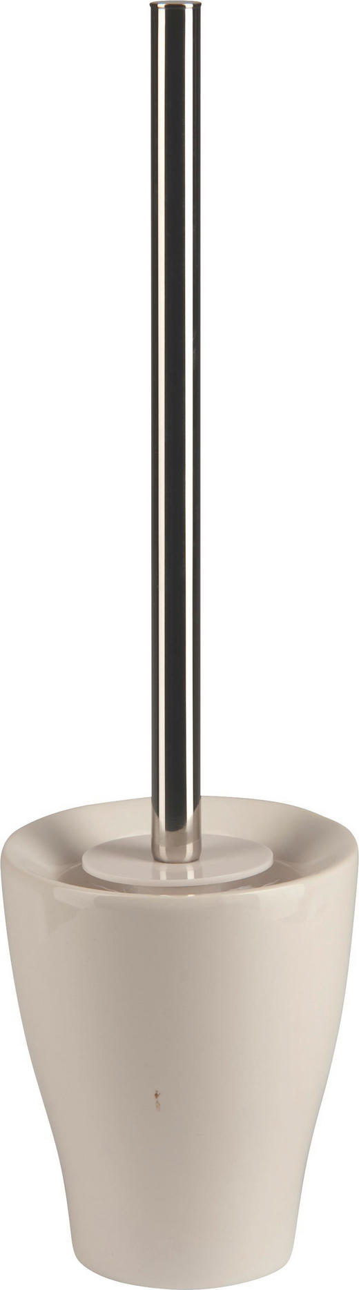 WC-BÜRSTENGARNITUR - Chromfarben/Weiß, Design, Keramik/Kunststoff (11,5/40/11,5cm)