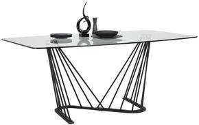 MATBORD - klar/svart, Design, metall/glas (180 100 76cm) - Lomoco