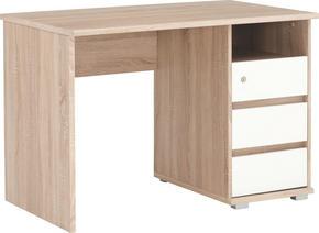 SKRIVBORD - vit/Sonoma ek, Klassisk, träbaserade material (110/75/65cm) - Xora