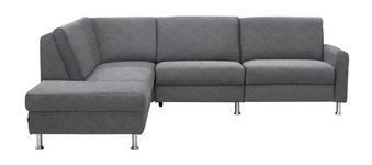 WOHNLANDSCHAFT Flachgewebe - Hellgrau/Alufarben, KONVENTIONELL, Textil/Metall (220/262cm) - DIETER KNOLL