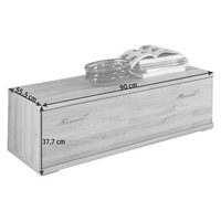 LOWBOARD 90/37,7/55,5 cm  - Silberfarben/Buchefarben, KONVENTIONELL, Holz/Holzwerkstoff (90/37,7/55,5cm) - Cantus
