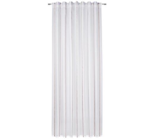 FERTIGVORHANG halbtransparent - Beige/Weiß, KONVENTIONELL, Textil (140/245cm) - Esposa