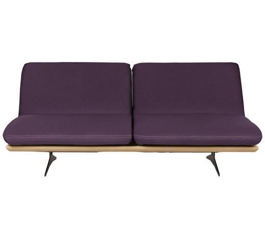 SCHLAFSOFA in Holz, Textil Violett - Beige/Violett, Design, Holz/Textil (204/92/90cm) - Dieter Knoll