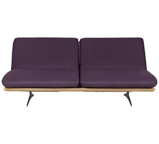 SCHLAFSOFA Violett  - Beige/Violett, Design, Holz/Textil (204/92/90cm) - Livetastic