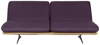 SCHLAFSOFA in Holz, Textil Violett - Violett/Schwarz, Design, Holz/Textil (204/92/90cm) - Dieter Knoll