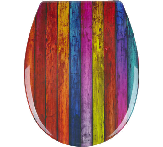 WC-SITZ - Multicolor, Basics, Kunststoff (37/3,5/46cm) - Sadena