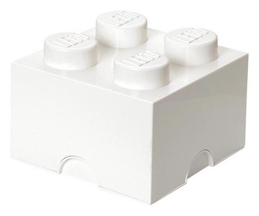 AUFBEWAHRUNGSBOX 25/25/18 cm - Weiß, Trend, Kunststoff (25/25/18cm) - Lego