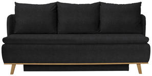 BOXSPRINGSOFA in Textil Anthrazit  - Anthrazit, KONVENTIONELL, Holz/Textil (207/95/121cm) - Venda