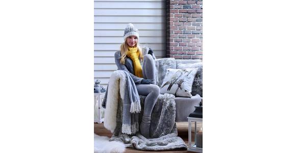 FELLKISSEN 48/48 cm  - Silberfarben, Design, Textil (48/48cm) - Ambiente