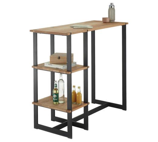 BARTISCH in Holz, Metall 120/50/105 cm - Eichefarben/Schwarz, Design, Holz/Metall (120/50/105cm) - Hom`in