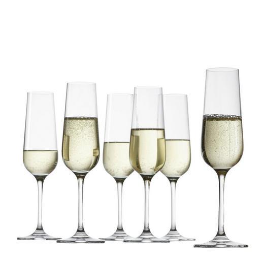Sektglas-Set 6-teilig - Klar, Basics, Glas (7/23cm) - Leonardo