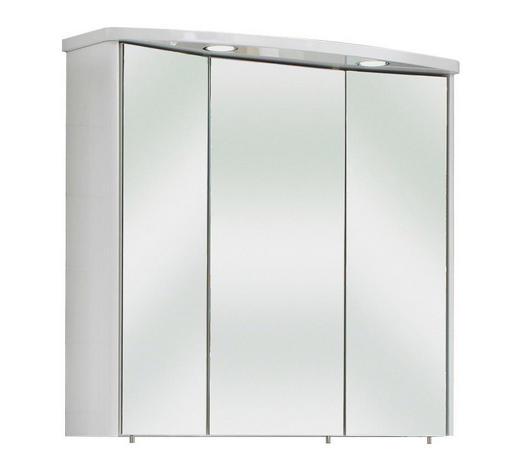 SPIEGELSCHRANK Weiß  - Weiß, Basics, Glas/Holzwerkstoff (80/73/18cm) - Xora