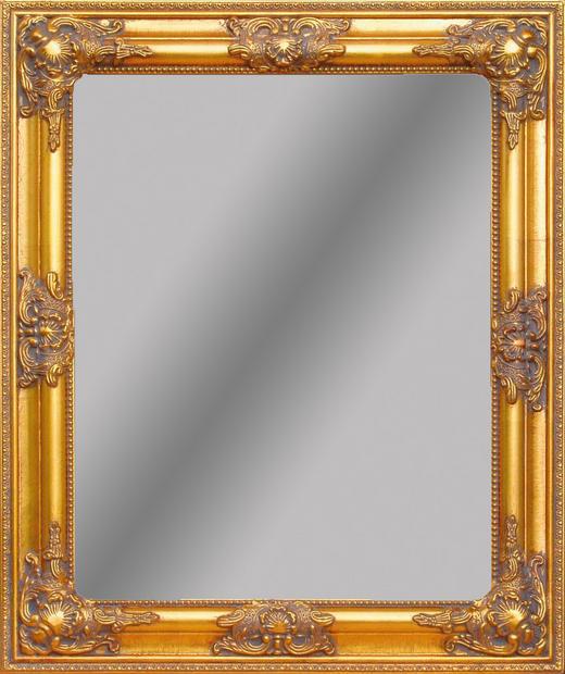 WANDSPIEGEL Goldfarben - Goldfarben, LIFESTYLE, Glas/Holz (52/62/3cm)