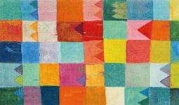 FUßMATTE 70/120 cm Graphik Multicolor  - Multicolor, Basics, Kunststoff/Textil (70/120cm) - Esposa
