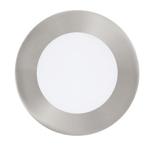 EINBAULEUCHTE Connect Fueva - Nickelfarben, Design, Kunststoff/Metall (12/3cm)