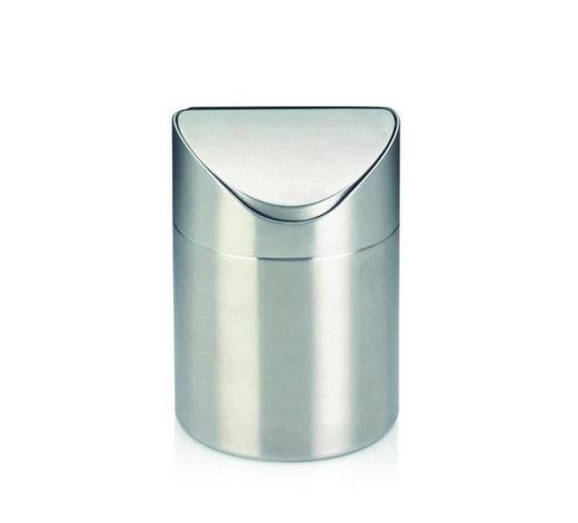 TISCHABFALLEIMER 1 L - Edelstahlfarben, Basics, Metall (12/17cm) - Kela