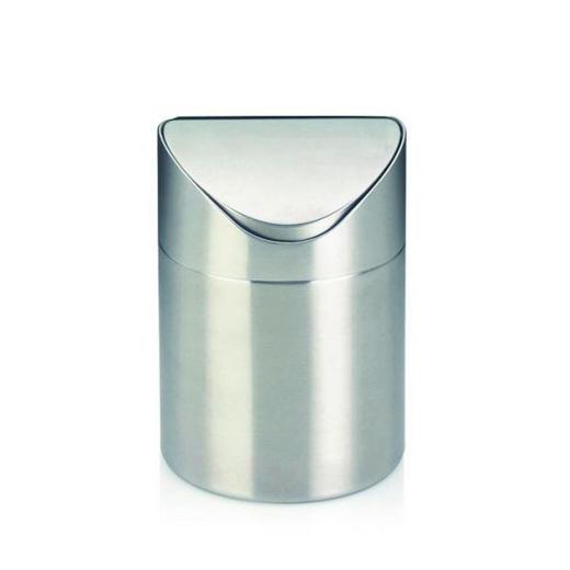 TISCHABFALLEIMER 1 L - Edelstahlfarben, Basics, Metall (12/17cm)