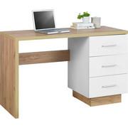 PISAĆI STOL  bijela, boje hrasta  drvni materijal  - bijela/boje hrasta, Moderno, drvni materijal/plastika (120/75/50cm) - Hom`in