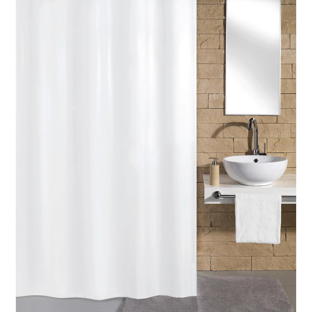 Image of Kleine Wolke Duschvorhang 120/200 cm , 4937 114 238 Kito , weiss , Textil , Uni , 120x200 cm , wasserabweisend , 003342162401