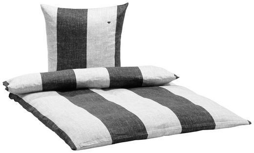 BETTWÄSCHE Satin Schwarz - Schwarz, KONVENTIONELL, Textil (135/200cm) - Tom Tailor