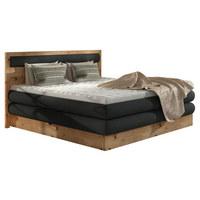 POSTEL BOXSPRING, 180 cm  x 200 cm, dřevo, kompozitní dřevo, textil, antracitová, barvy dubu - barvy dubu/antracitová, Natur, dřevo/kompozitní dřevo (180/200cm) - Valnatura