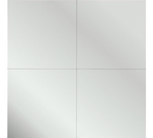SPIEGEL Silberfarben - Silberfarben, KONVENTIONELL (30/30/0,3cm) - Carryhome