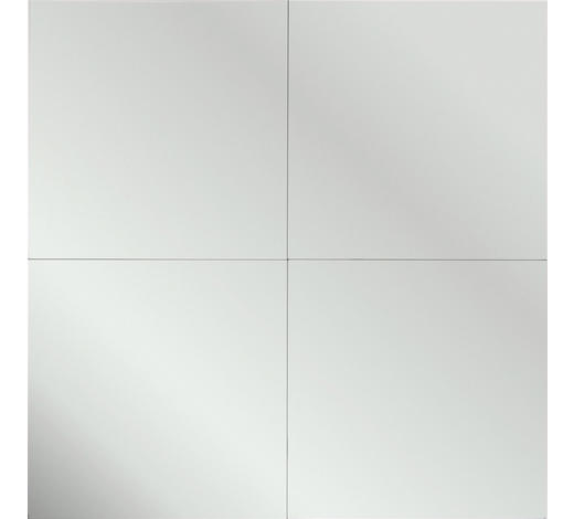 ZRCADLO, čtvercové - barvy stříbra, Konvenční (30/30/0,3cm) - Boxxx