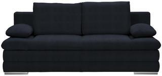 SCHLAFSOFA in Textil Schwarz  - Chromfarben/Schwarz, MODERN, Textil (203/90/102cm) - Carryhome