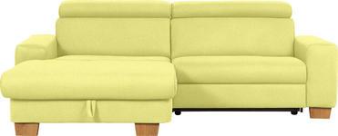WOHNLANDSCHAFT in Textil Gelb  - Eichefarben/Gelb, Design, Textil (178/262cm) - Hom`in
