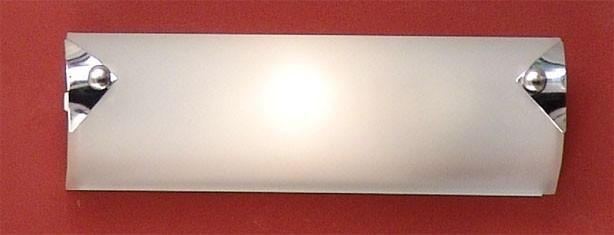 WANDLEUCHTE - Chromfarben/Weiß, KONVENTIONELL, Metall (25cm)